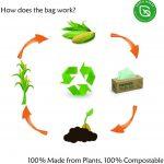 Bolsas Compost para residuos de Cocina biodegradables Hechas de almidón de maíz