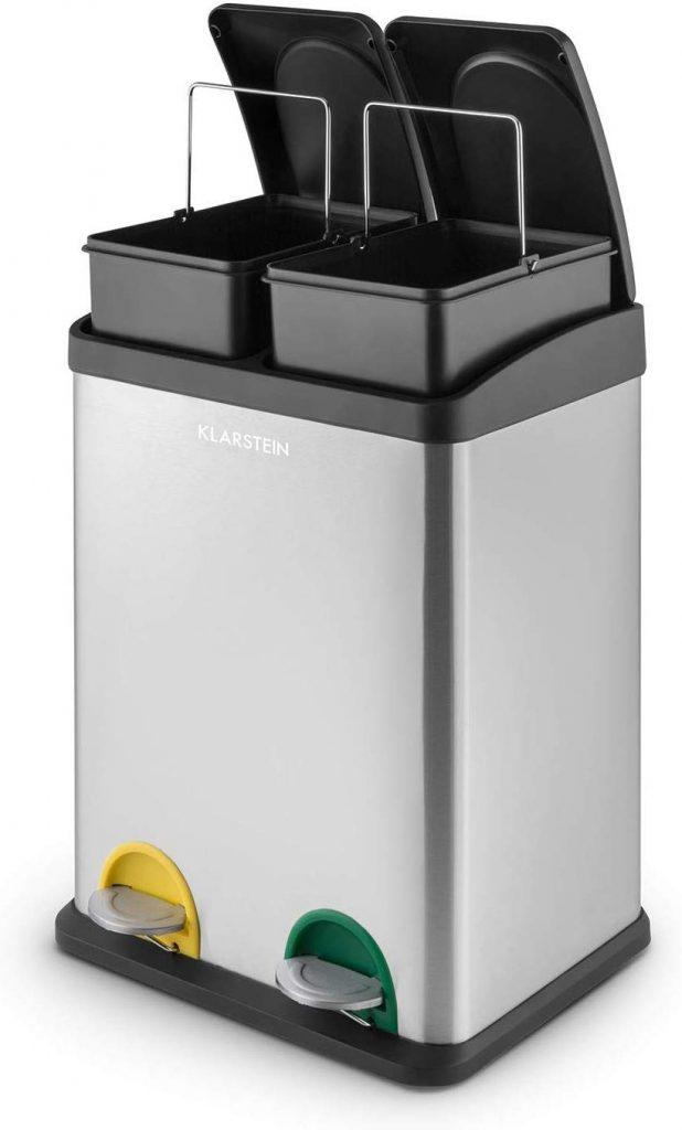 Sistema Ecologico, Cubo de Basura para Reciclaje con Pedales,Recipientes Extraíbles