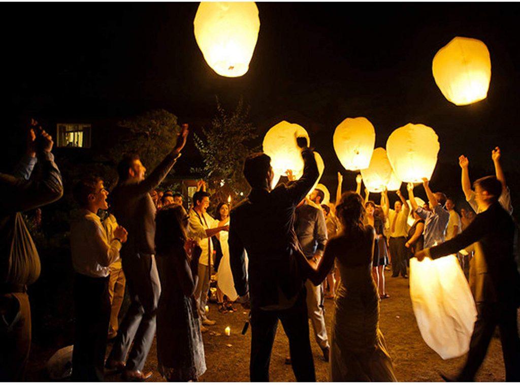 internas de Papel Farolillo celestiales Chinas - Linterna de Papel Resistente al Fuego, 100% Biodegradable, respetuosa con el Medio Ambiente y