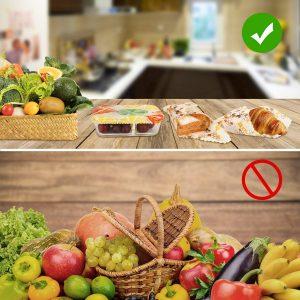 Envoltorio Cera De Abeja,6Pcs Envoltorios de Alimentos,Lavables Reutilizables Ecológicos