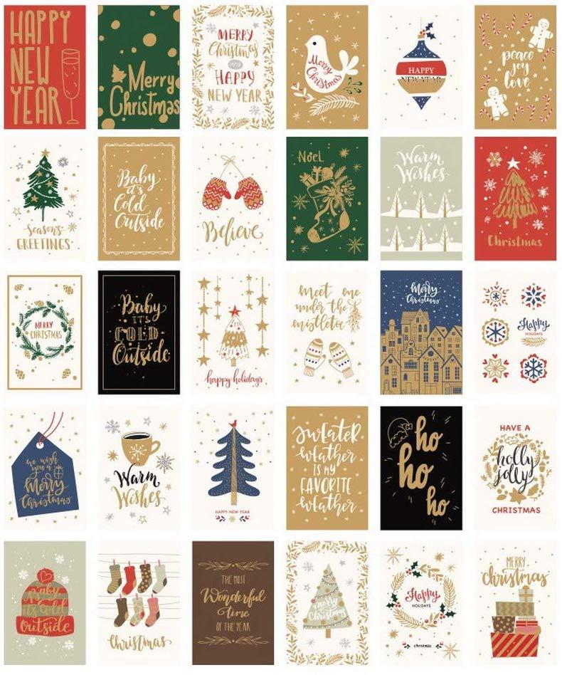 Tarjetas de felicitación navideñas