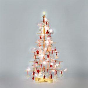 arbol de navidad de madera ecologico