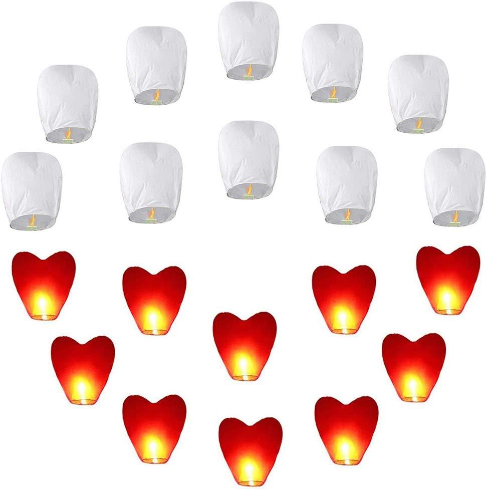 globos chinos forma de corazon decoracion de navidad globos de deseos