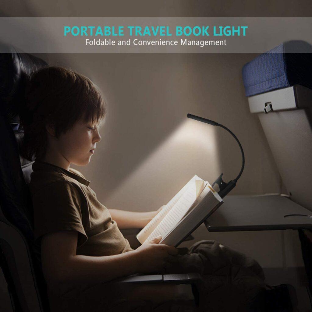 luz para libros pinza