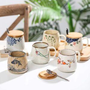 taza De Estilo Retro Japonés